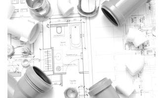 管工事イメージ(配管部品、設計図)